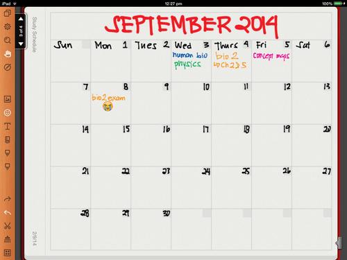 Ipad 2 Wikipedia Creating A Study Schedule On Noteshelf Noteshelf Blog