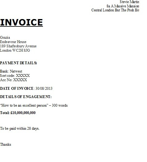 How to invoice GoThinkBig