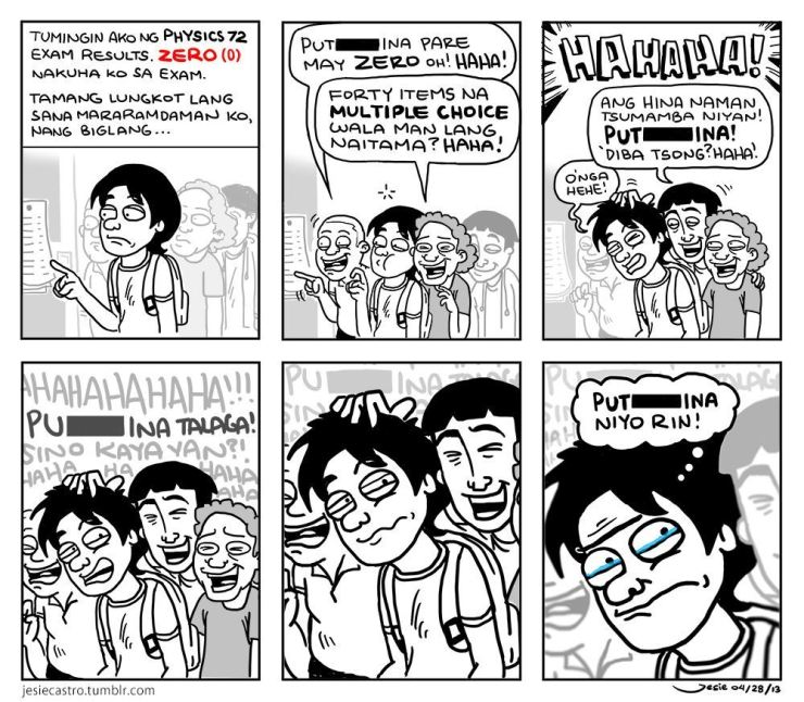 """Tangina"" comic by Jesie Castro"