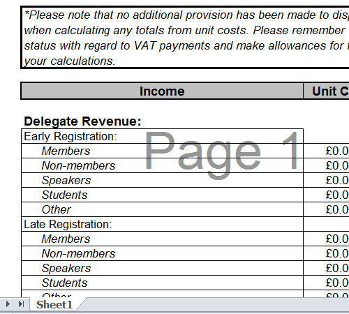 Save Word Templates 7 Event Planning Budget Templates Excel