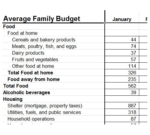 Family Yearly Budget Free Template Excel - family budget project