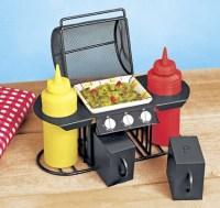 BBQ Condiment Set. The picnic table condiment set ...