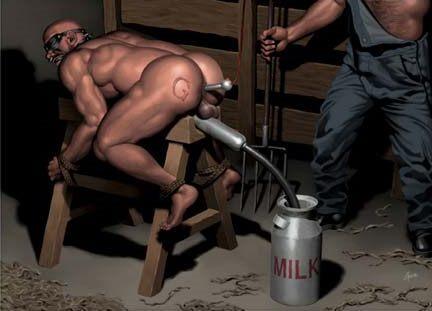 forced male milking machine bondage