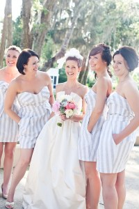 sweep me up (Omg. White and grey striped bridesmaid