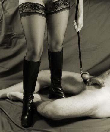 dominant wife husband penis leash