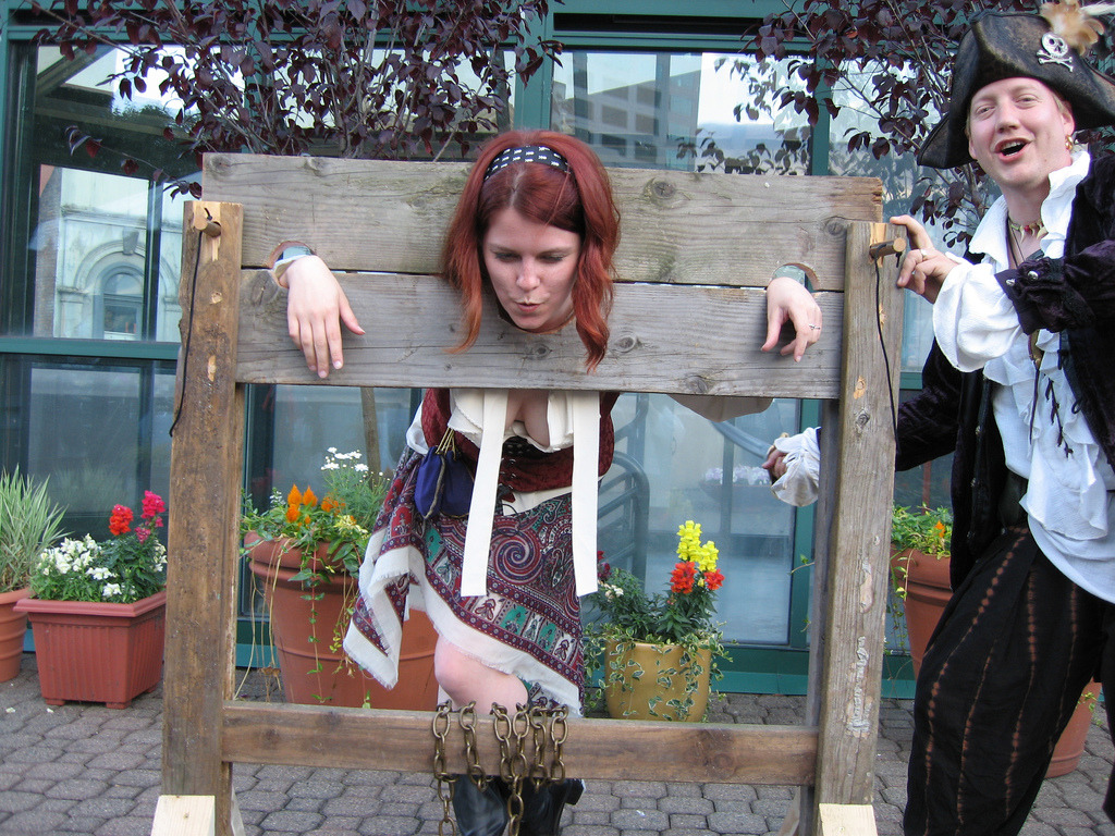 punishment stocks and pillories