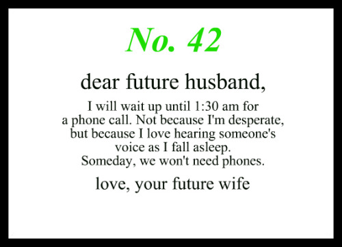 Dear Future Husband Love u003c3 Pinterest Future husband, Future - phone book example