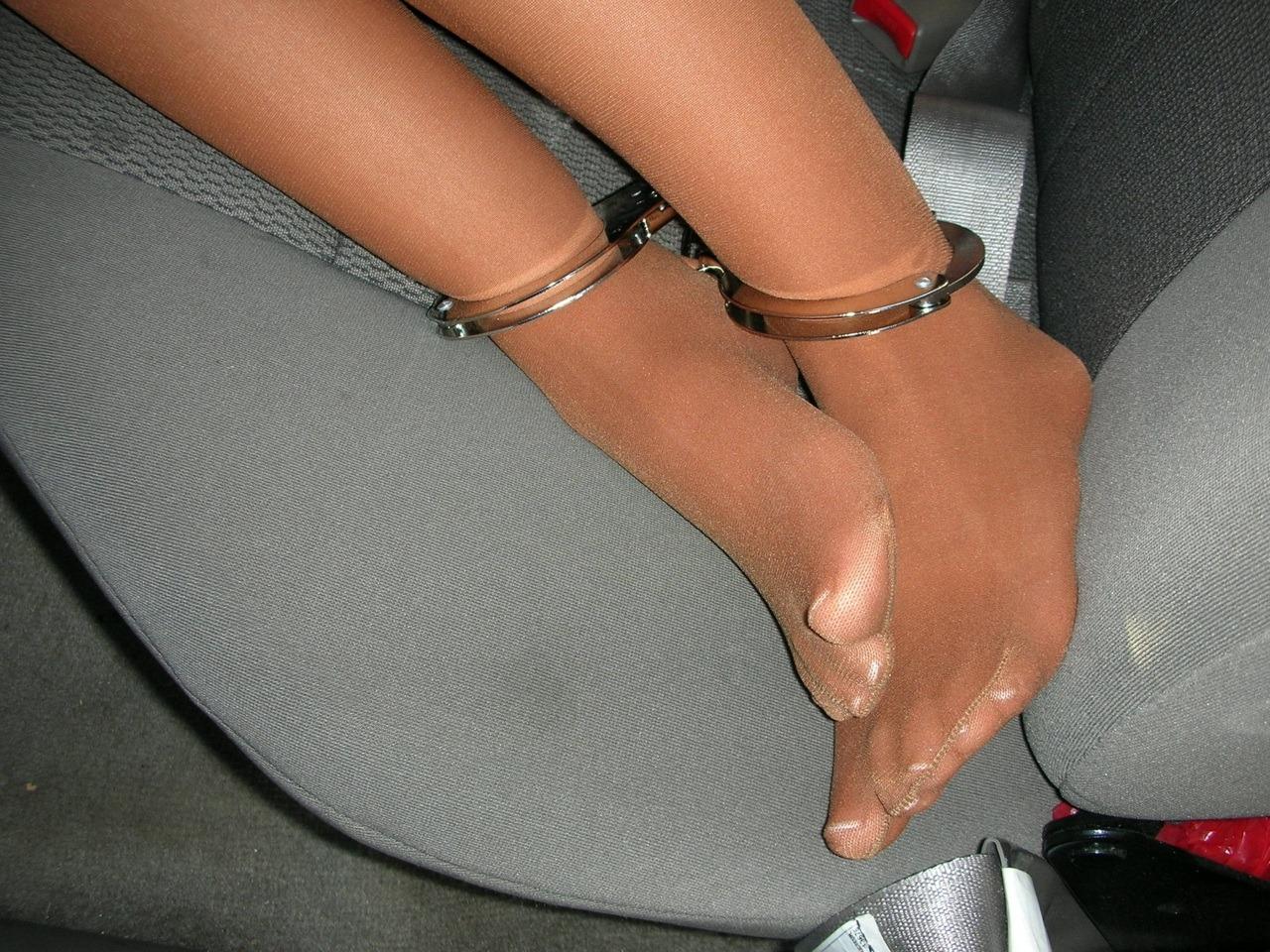 waitress pantyhose feet