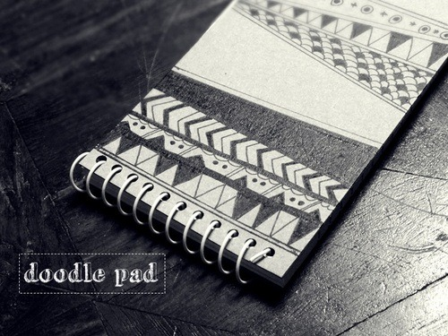 Bealynor doodled notebooks pad