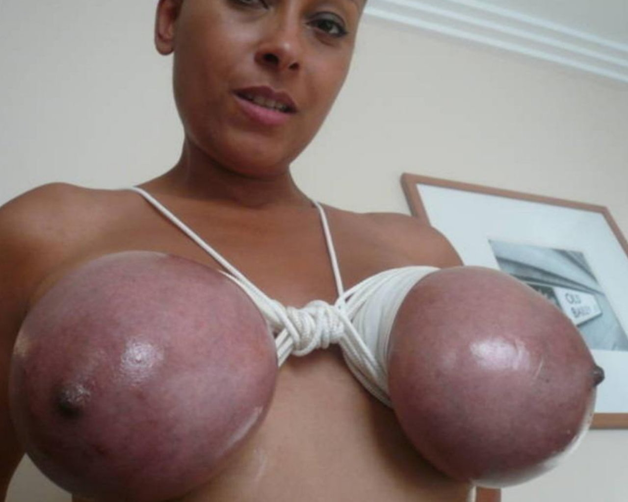 wife tits tied tight
