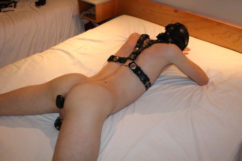 saran wrap bondage girl