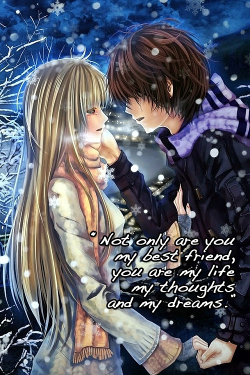 Cute Anime Couple Cuddling Wallpaper Hd Anime Couple Quotes Quotesgram