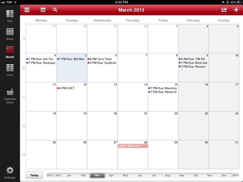 Week Calendar HD Review \u2013 MacStories