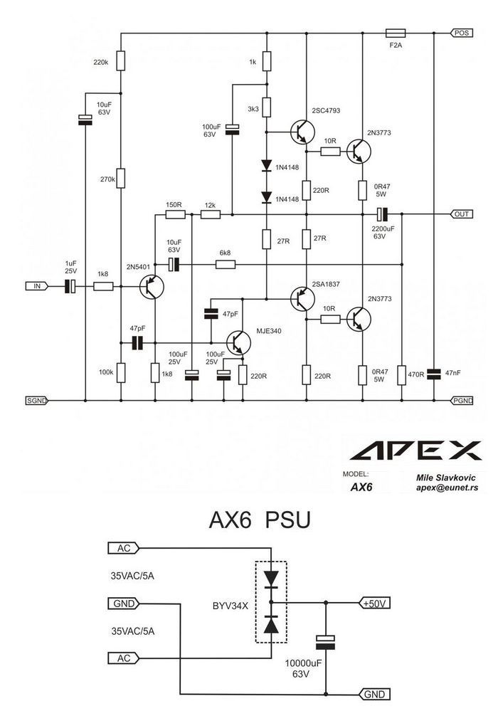 circuit diagram for amplifier