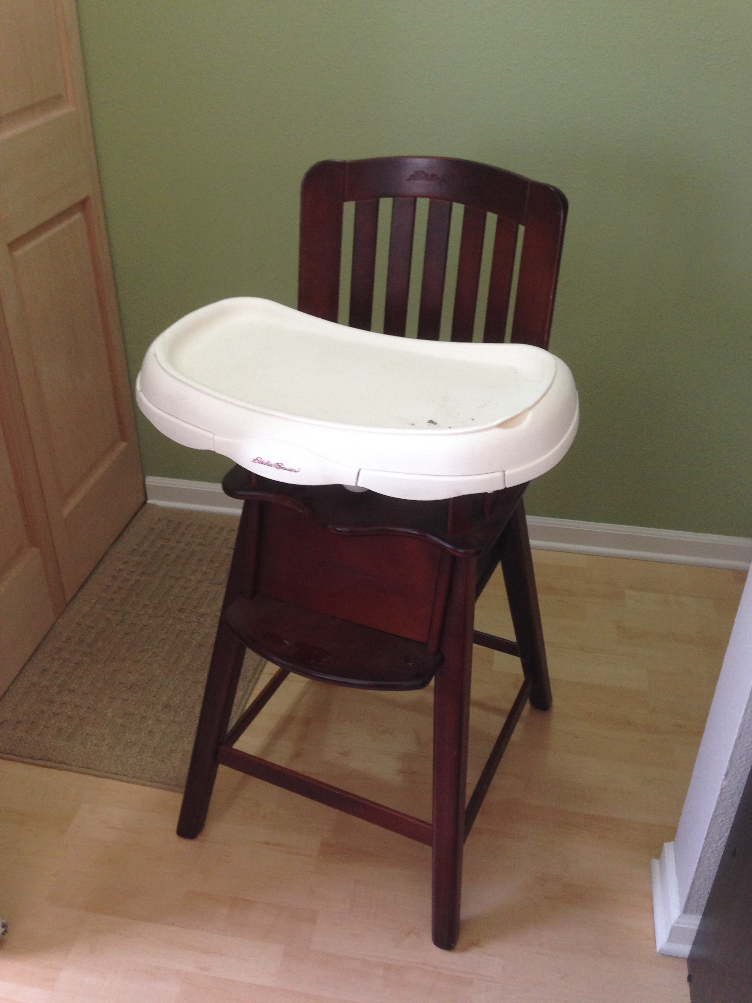 Prodigious We Started Out Using Same Zinsser Stripfast Stripper That Weused When We Did Room It Work Nearly As Well Asit Did Refinished Chair Days August baby Eddie Bauer High Chair