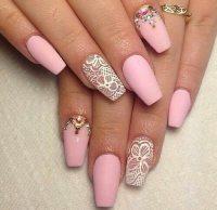 fashion style pink nails nail art girly kellyglamorous