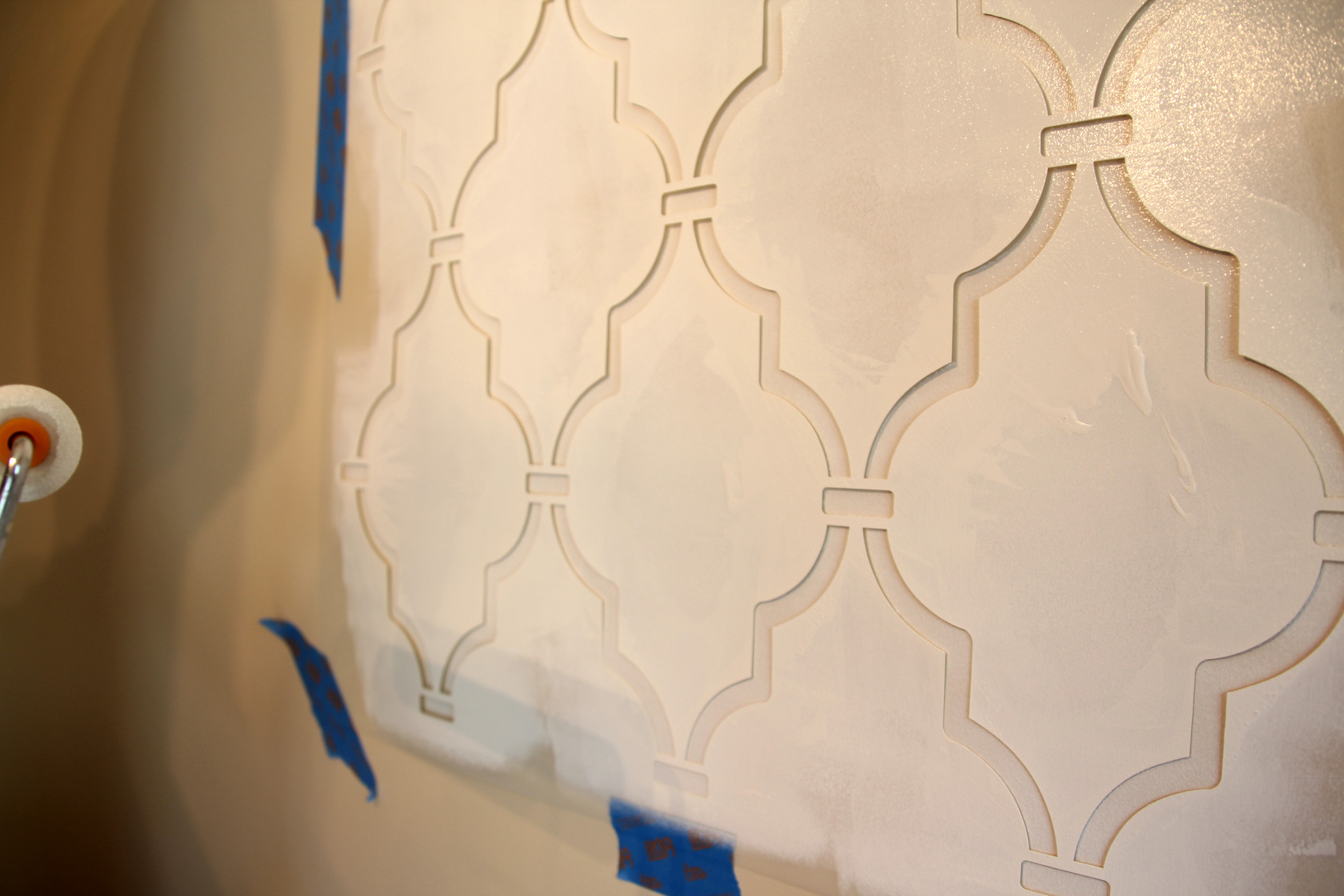 Stencils For Painting Stencil Wall Complete! | 346 Living