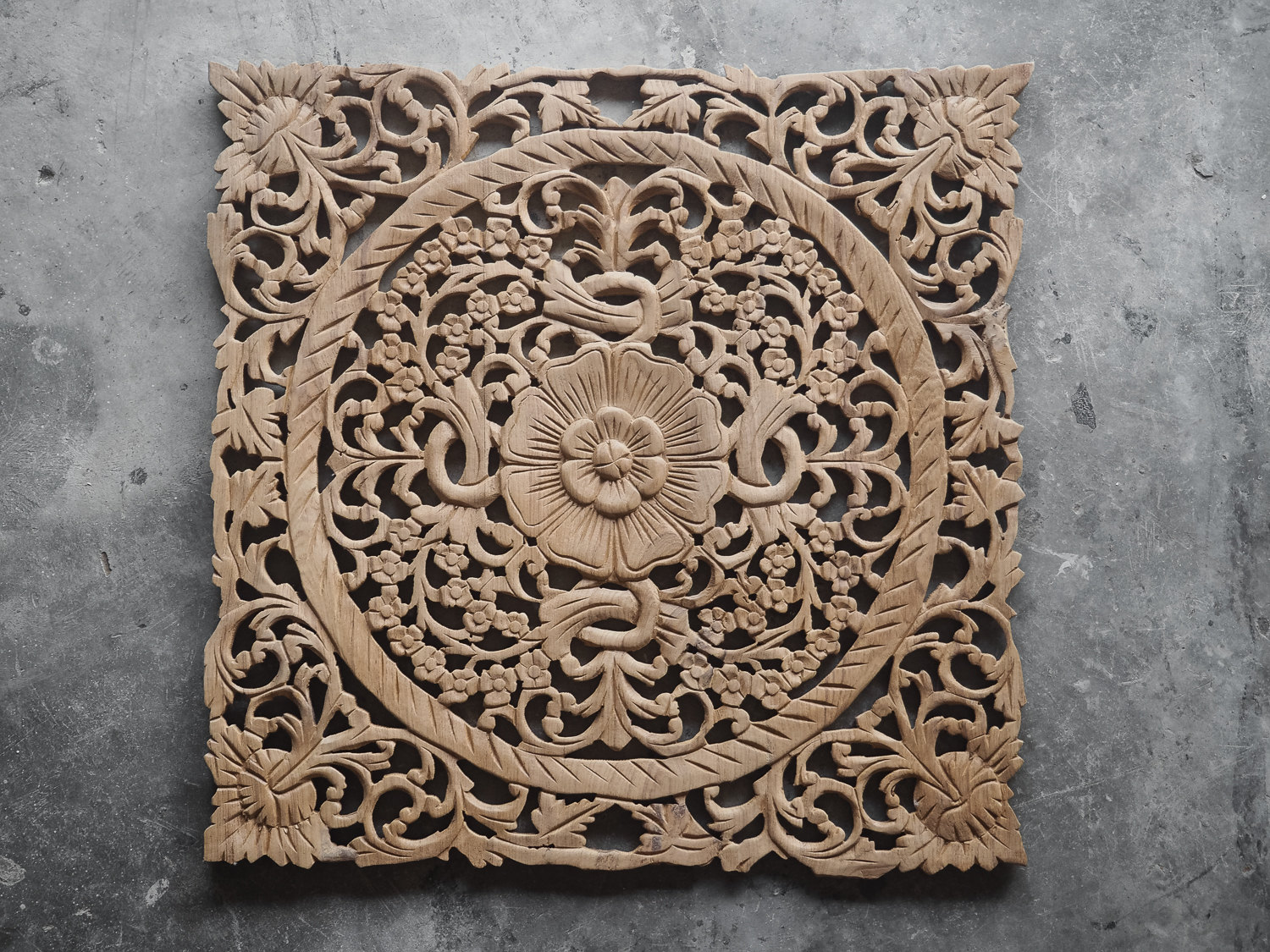 Carved Wood Wall Hanging Buy Lotus Wood Carving Plaque Oriental Decor Online