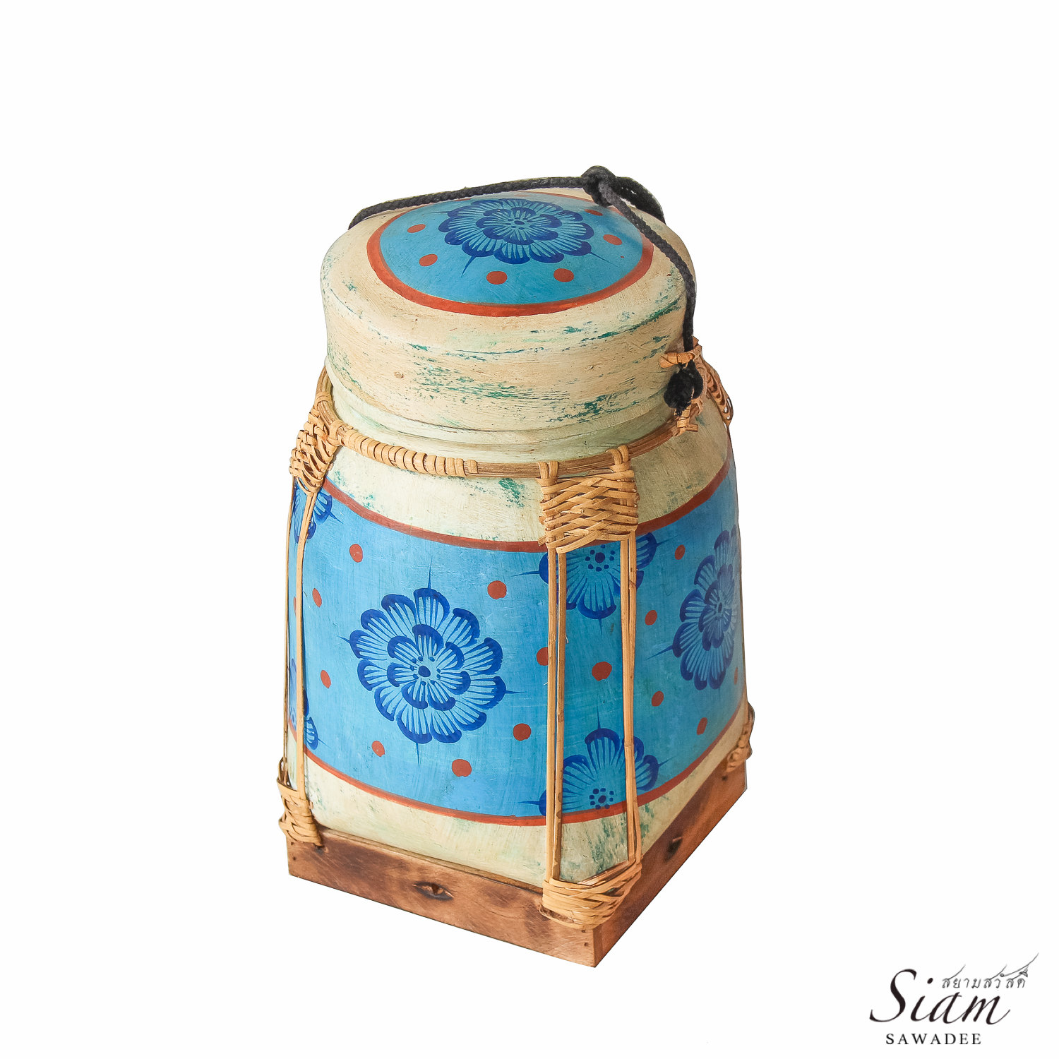 Baskets Online Buy Hand Painted Rattan Weaving Rice Basket Online