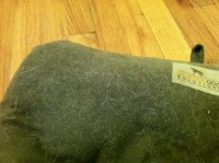 How do I remove dog hair from a dog bed?