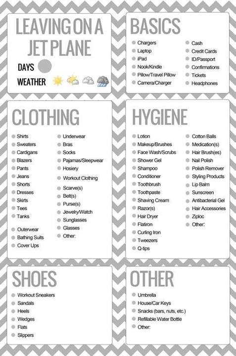 The Ultimate Travel Beauty Packing List Vacation, Mauritius and - packing checklist template
