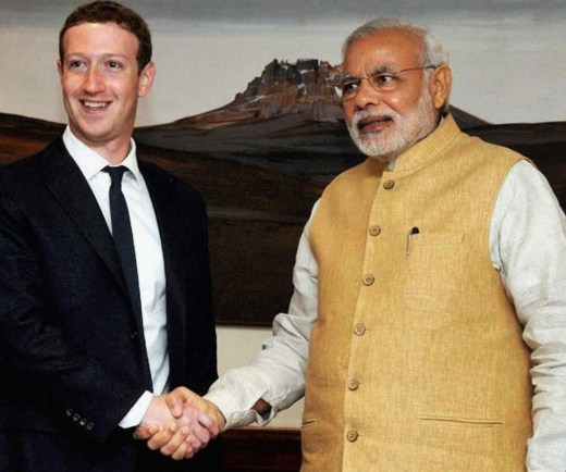 Meet Mark Zuckerberg, CEO of Facebook.On Sep 27, 2015, Zuck is going to be shaking hands with Modi.Zuck, don't get that blood all over your hands :-(