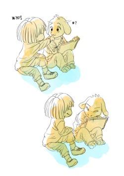 cute undertale asriel