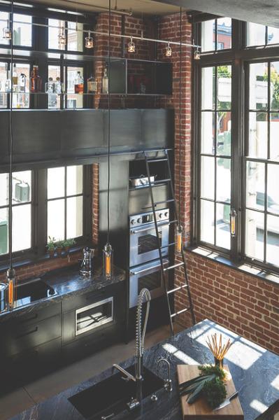 Industrial Vintage Wohnhaus Loft Stil. ceiling fan design ...
