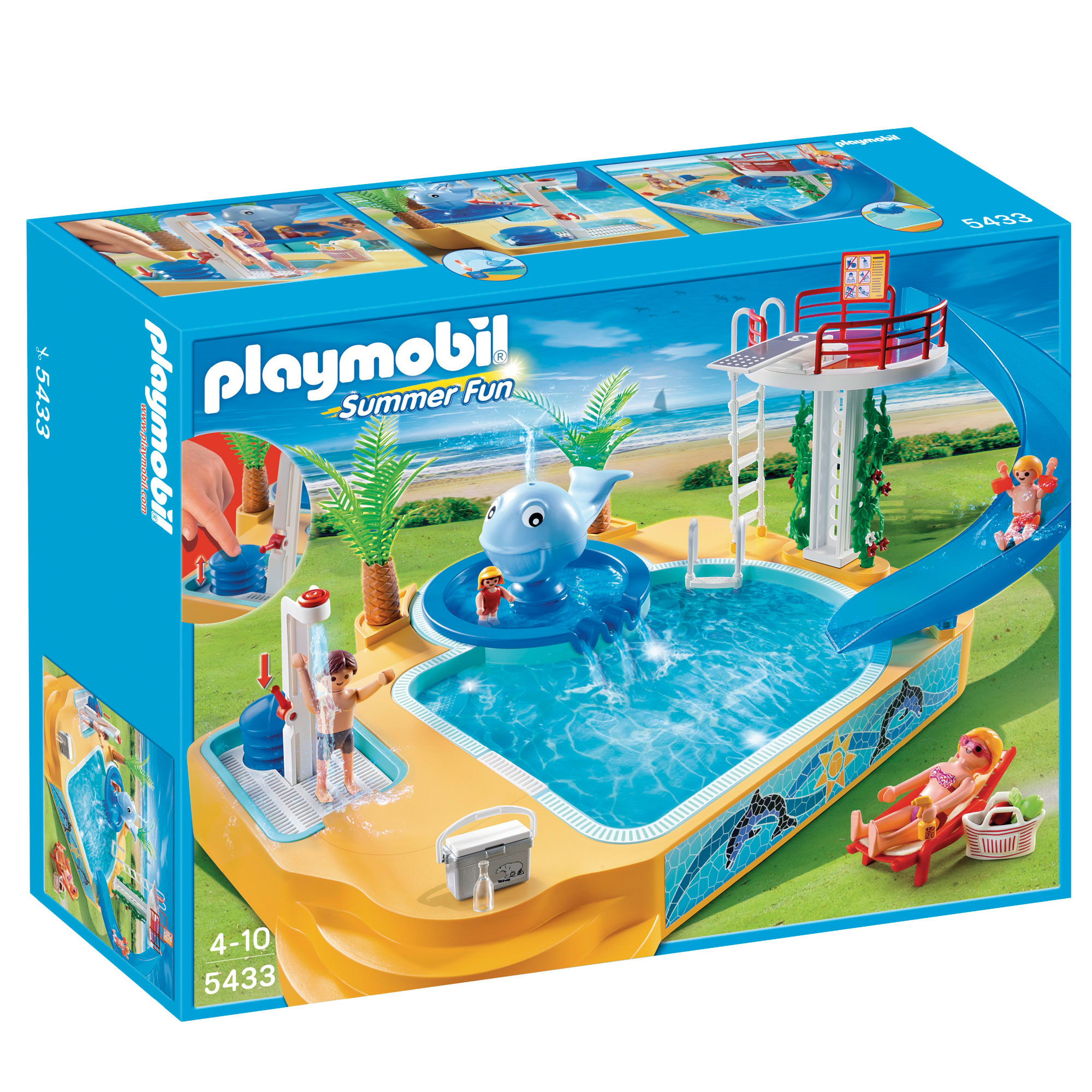 Piscina Toy Playmobil Holiday Home 4857 From The Playmobil Vacation