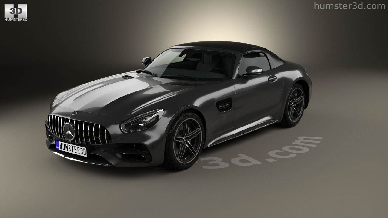 Mercedes Amg Gt C Roadster 2017 360 View Of Mercedes Benz Amg Gt C Roadster 2017 3d Model Hum3d