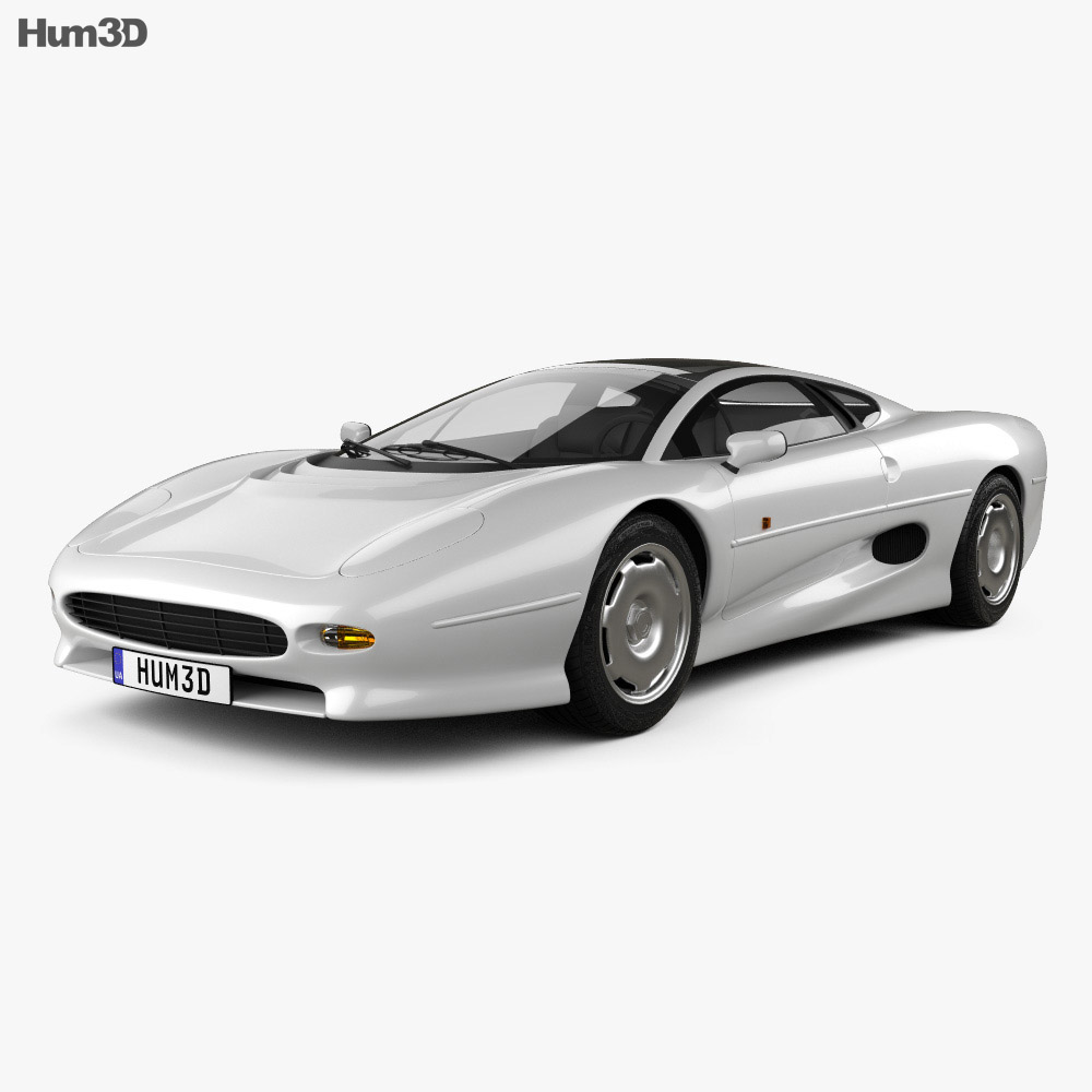 Jaguar Xj13 Blueprint Jaguar Xj220 1992 3d Model