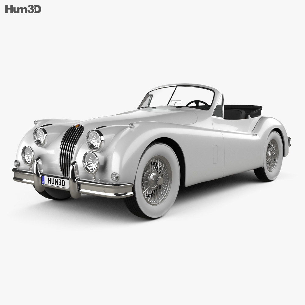 Jaguar Xj13 Blueprint Jaguar Xk 140 Convertible With Hq Interior 1954 3d Model