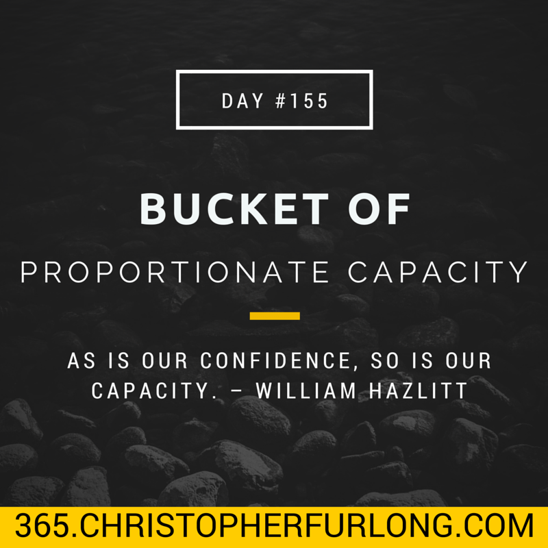 Day #155: Bucket of Proportionate Capacity
