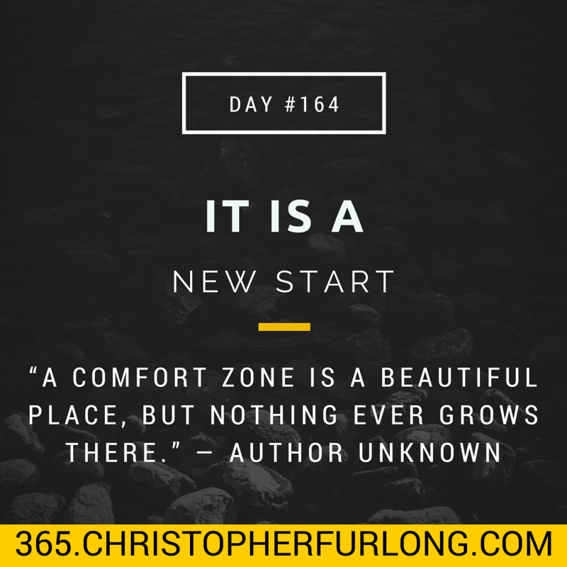 Day #164: Opportunity: It's A New Start