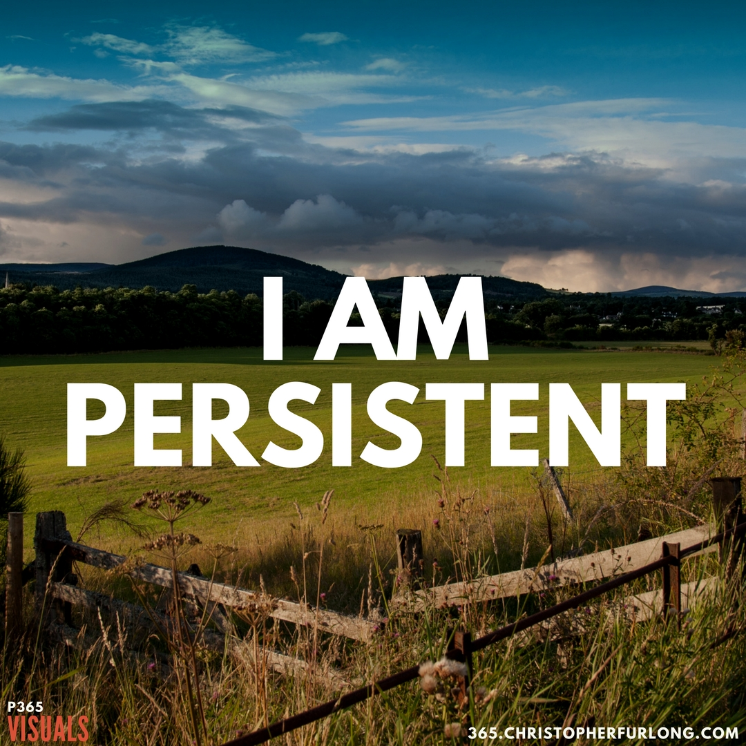 P365 2018: Day #084: I Am Persistent