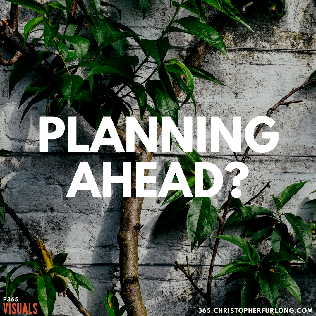 P365 2018: Day #164: Planning Ahead?