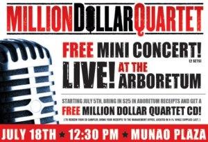 Million Dollar Quartet at the South Barrington Arboretum