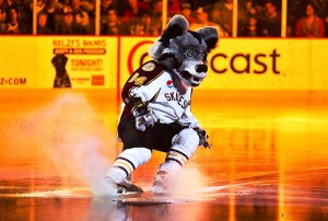 Skates the Chicago Wolves Mascot