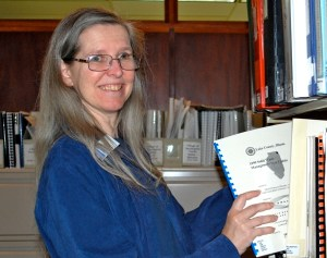 Barrington Library Archive Specialist, Kate Mills