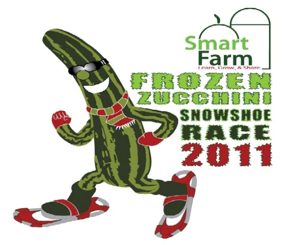 Frozen Zucchini Snowshoe Race in Barrington, Illinois