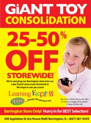Learning Express Toys Consolidation Sale