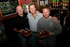 Wool Street & Onion Pub & Brewery Owners, Mark Green, Mike & John Kainz - Courtesy of Julie Linnekin