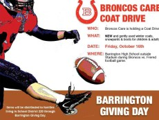 Broncos Care Coat Drive for Barrington Giving Day @ Barrington High School | Barrington | Illinois | United States