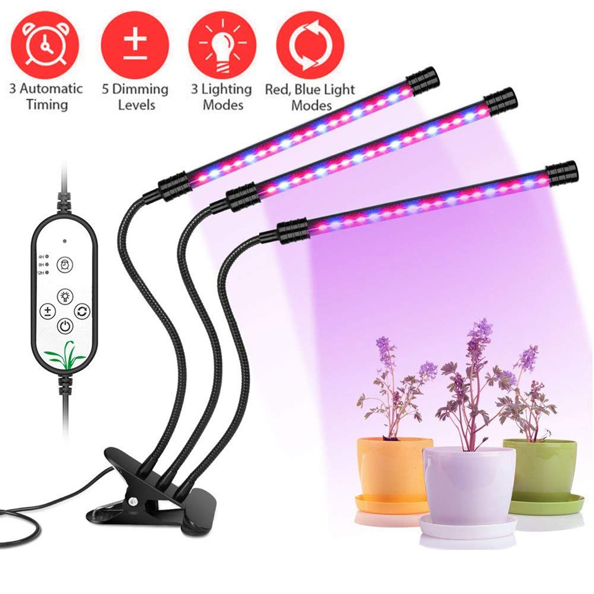 Wachstumslampe Led Pflanzenlicht Pflanzenlampe Led Wachstumslampe Grow Light Dimmbar