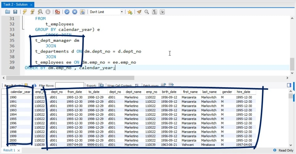 Solving a Business Task in SQL and Visualizing it in Tableau