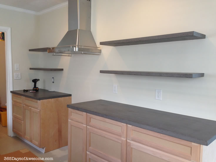 Concrete Floating Shelves 365 Days Of Awesome