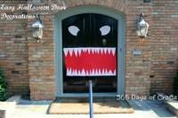 Halloween door decorations monster mouth