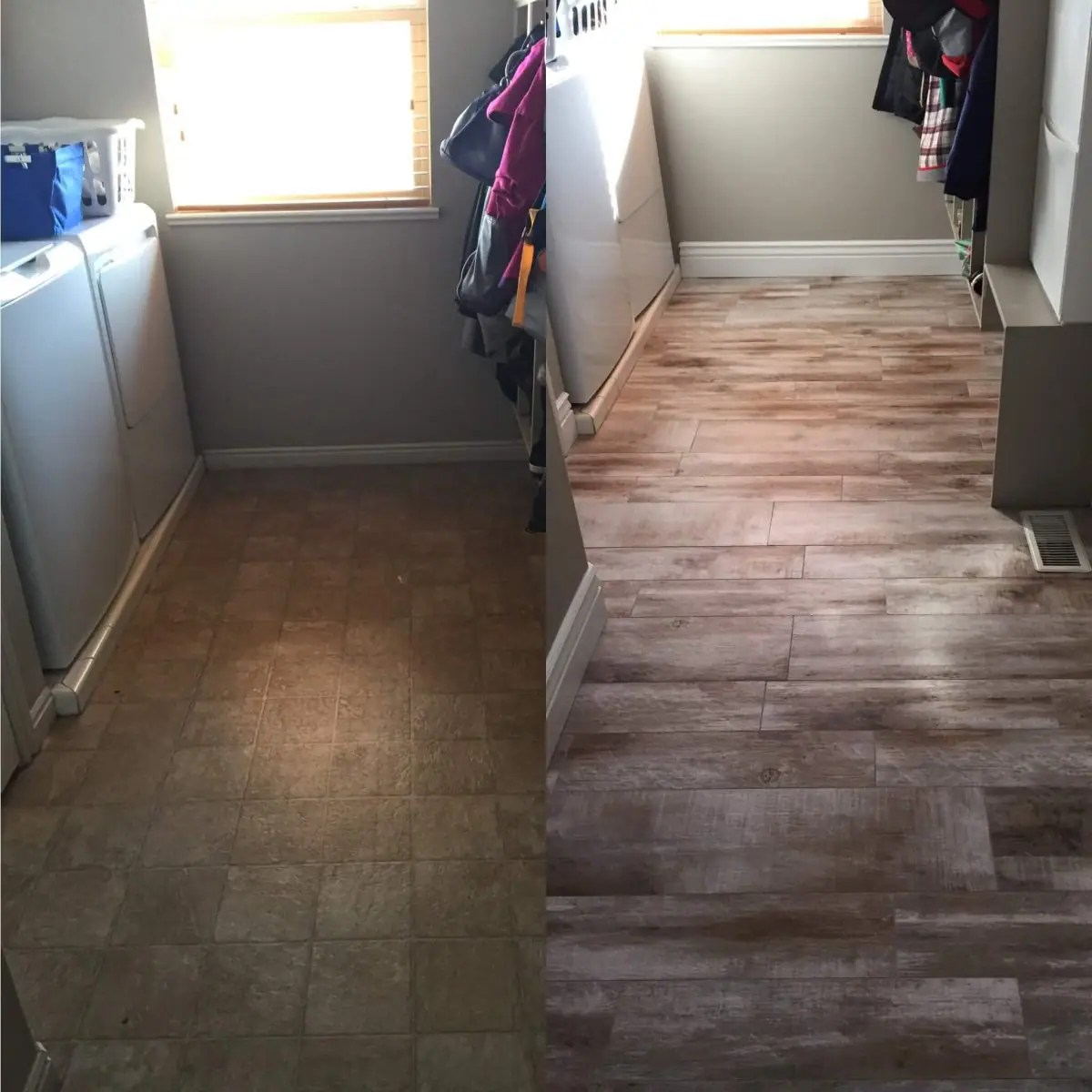 Paint Colors To Brighten A Dark Room Flooring Before And After Reveal-wood Looking Tile - 365