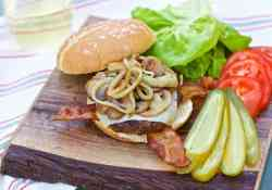 These are the BEST BBQ hamburgers you'll ever have AND they are topped with Mozza cheese, mushrooms, onions and bacon   365 Days of Easy Recipes