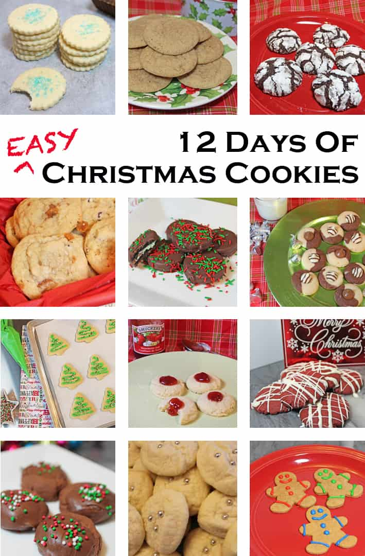 christmas cookie 12 day template - 365 Days of Easy Recipes